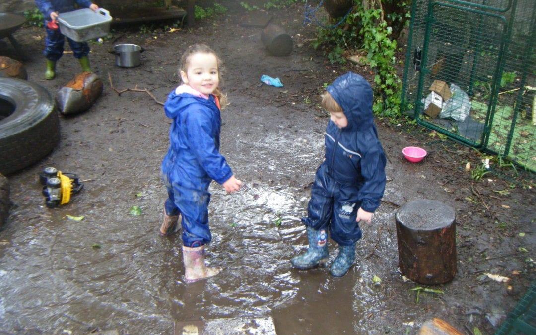 We LOVE muddy puddles!